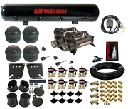 480 Black Air Compressors Valves 7 Switch And Tank Air Ride Kit For 1958-64 Impala
