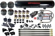4 Link Compressors Air Bags Valves Black 7 Toggle And Tank Air Kit For Chevy S10