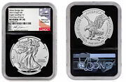 2021 Type 1 And 2 American Silver Eagle First Day Of Issue Mercanti And Gaudioso
