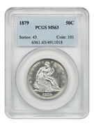 1879 50c Pcgs Ms63 - Low Mintage Date - Liberty Seated Half Dollar