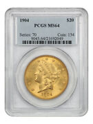 1904 20 Pcgs Ms64 - Lovely Type Coin - Liberty Double Eagle - Gold Coin
