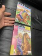 2-barbie Horse Adventures Wild Horse Rescue/and Riding Camp - Play Station 2