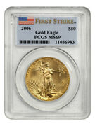 2006 Gold Eagle 50 Pcgs Ms69 First Strike - American Gold Eagle Age