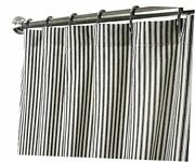 Extra Long Shower Curtain Unique Designer Fabric Black And White Striped