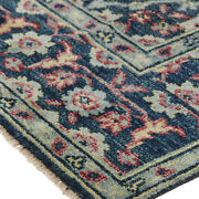 Bashyr Nordic Hand Knot Wool Rug Navy/turquoise/red Rug