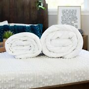 Luxury Hand-finished Mulberry Silk-filled Duvets Combination. Summer Plus