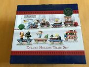 Jim Shore Peanuts Deluxe Holiday Train Set Christmas Limited Edition With Sally