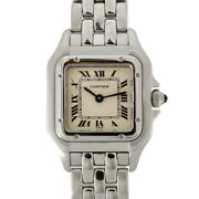 Watches Silver Ivory Stainless Steel Panthere Mini From Japan Used