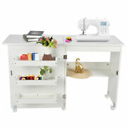 Sewing Machine Tables Folding With 5 Casters Sewing Table For Bedroom For Home