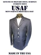 Menand039s 39r Usaf Coat Service Dress Blue Us Military Air Force Issue Jacket 1620