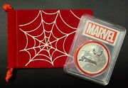 2017 Tuvalu Spider-man 1 Oz Silver Marvel 1 Coin Pcgs Ms70 W Red Gasket .9999
