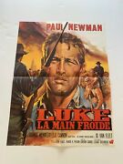 Vintage 1967 French Cool Hand Luke Movie Poster- Paul Newman