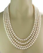 And Co. Ziegfeld Fresh Water Pearls Sterling Silver Long Necklace 96