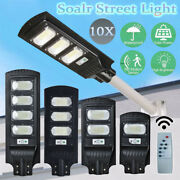 10x Led Street Light Outdoor Security Lamp Cool White Solar Recharge With Sensor