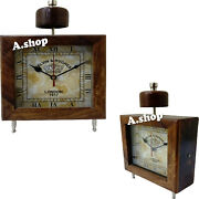 Collectible Style Wooden Table Clock Kelvin And Hughes Nautical Home Decor