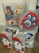 Pottery Barn Kid Organic Paw Patrol Full Queen Quilt 2 Sham Puppies Dogs Pillows