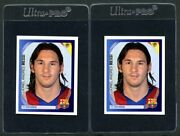 Pair Two 2007-08 Panini Champions League 58 Lionel Messi Nm Fc Barcelona 2