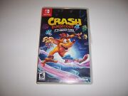 Replacement Case For Crash Bandicoot 4 Its About Time Switch Box Authentic