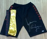 Jean Claude Van Damme And Bolo Yeung Signed Bloodsport Trunks Bas Coa