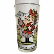 1970s P.a.t.-ward Canadian Mounty Dudley Do-right Takes Tea At Sea Cartoon Glass