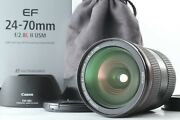 [almost Mint In Box] Canon Ef 24-70mm F2.8l Ii Usm Zoom Lens From Japan