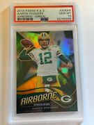 2019 Rookies And Stars Aaron Rodgers Packers Airborne Green Prizm 3/5 Psa 10 Gem