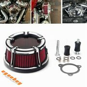 Red Motorcycle Air Intake Filter System For Harley Touring Road Glide Fltr 08-16