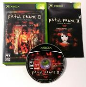 Fatal Frame Ii The Crimson Butterfly Microsoft Xbox, 2004 Complete Cib Tested
