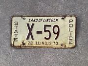 1972 - 1973 Illinois - State Police - License Plate