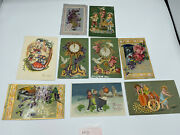Lot Of 9 Vintage New Years Postcards Guc