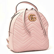 Backpack Women And039s Pink Gg Marmont Quilted Leather 476671