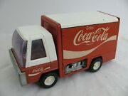 Vintage Buddy L Pressed Steel Coca-cola Delivery Truck W/ Dolly And Coke Cases Vg