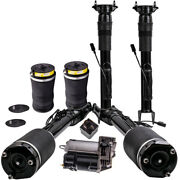Air Springs Bags Suspension Compressor Set Front Rear For Mercedes Ml 1643200204