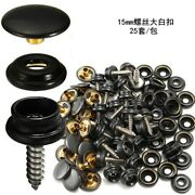 3 Part Screw Press Studs 15mm With Hand Tool Set For Fitting Boat Cover Carpet