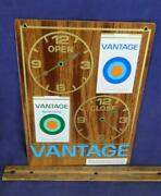 Nice Vtg Vantage Cigarette Open Close Store Sign Thank You Call Again Tobacco