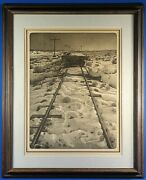 Rare Malcolm Childers Signed/numbered Flatcar Original Relief Etching 1973