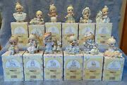 Lot Of 12 Precious Moments Ornaments 12 Days Of Christmas Series Complete 1-12