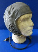 Usaf Type A-13 Leather Flying Helmet W/receivers - Extra Large