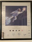 Giclee Canvas Allen Bean Reaching For The Stars 24 Signatures Framed And Glassed