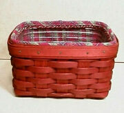 Longaberger Rare Retired 2009 Bold Red Recipe Basket Set- New-shop Our Store