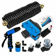 12v 4.5 Gpm 70 Psi Portable Water Washdown Pump Kit Compatible With Boat Rv And Ag