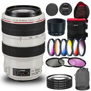 Canon Ef 70-300mm F/4-5.6l Is Usm Lens Bundle With Cleaning Kit Filter Kit