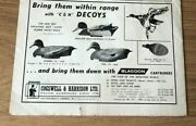 Stgun77 Advert5x8 Cogswell And Harrison Ltd, Self Inflating Rubber Duck Decoy
