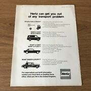 Sta33 Advert 11x8 Contact Hertz Can Get You Out Of Any Transport Problem