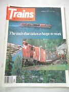 Trains Magazine March 1977 Train That Takes Barge To Work Steamand039s Last Chance