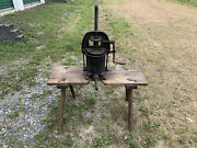 Enterprise Mfg. Co. Cast Iron Sausage Stuffer Fruit Press With Stand Complete