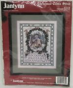 Janlynn Father Winter Wildlife Victorian Christmas Counted Cross Stitch Kit 1992