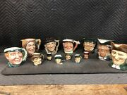 13 Royal Doulton Toby Jug/mug/pitcher Small And Large Collection Excellent Cond