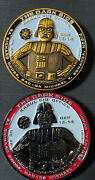Star Wars Support The Troopers Vs The Dark Side Military Challenge Coin Lot Of 2