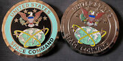 United States Space Command Challenge Coin Teal Buddle Lot Of 2